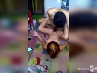 Tattooed Asian cunt gets fucked by her boyfriend's friend