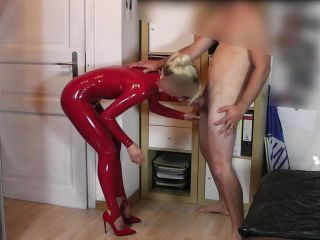 Hardcore Face Fuck Mouth Fuck Blow Job In Latex Catsuit