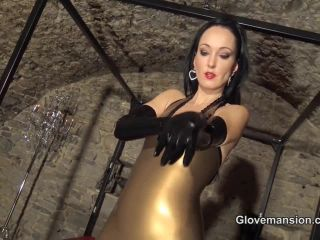 Femdom – Glove Mansion – Milked by Long Latex Gloves – Fetish Liza
