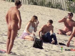 Hairy Slut on a Nude Plage
