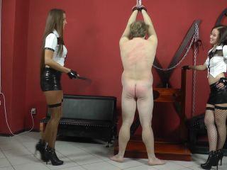 Porn online CRUEL MISTRESSES – Naked boy's mocking – Starring Mistress Anette and Amanda femdom