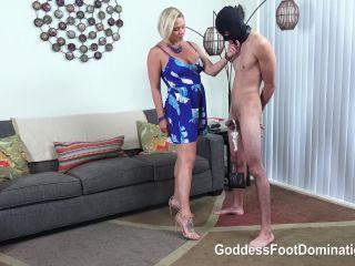 Goddess Foot Domination – Goddess Brianna – Vulnerable Foot Slave – CBT – Ball Abuse, Keyholder - chastity - femdom porn fetish papa