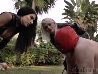 Ball Abuse – Femme Fatale Films – Bullying The Beast – Super HD (Part 1-2) – Goddess Tangent and Mistress Heather