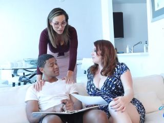 Maggie Green , Aubrey Black - Cougar Tutors Have Their Way With Lil D