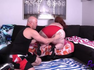 Redhead ssbbw loves getting dicked down