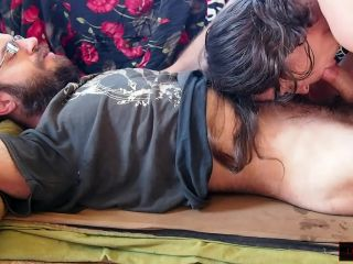 Morning MILF: Hairy Cock-Lover Sucks and Grinds, Gets Nipples Pinched Hard