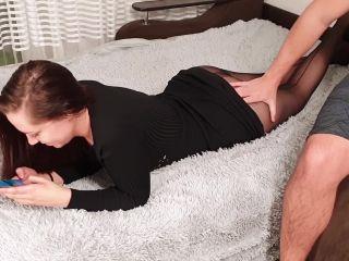 Brunette Sensual Blowjob Cock and Hardcore Ass Fuck - Oral Creampie