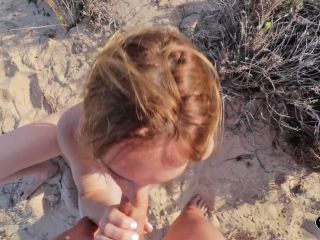 ManyVids presents HannahJames710 in POV risky beach swallow