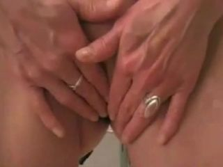 Colossal plug hard inserted and fisting pussy wife home made