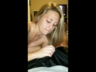 Girlfriend sucks dick and swallows cum for 2nd time in 30 mi
