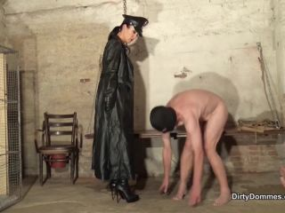 DirtyDommes – Fetish Liza –  Imprisoned boot and ashtray slave – Female Domination – Boots, Boot Domination
