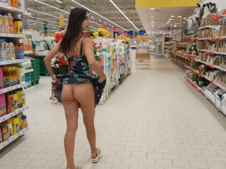 SweetButtocks - Under a Skirt without Panties in a Supermarket and nex ...