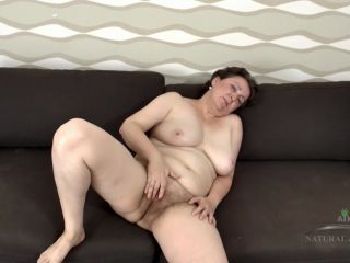 Hairy granny showing off