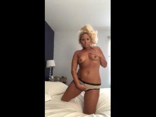 Horny Blonde Dirty Talks And Masterbates Until Orgasm