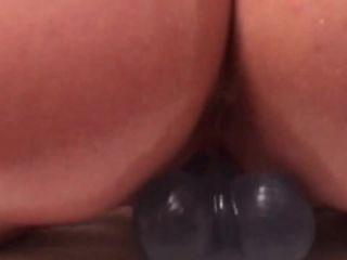 Kinkycouple111 – FACIAL Oily riding my dildo and fucking