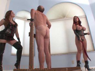 Femdom – ClubDom – Megan and Mistress Friend Whips Slave