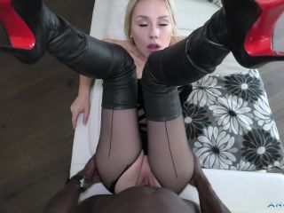 Angie Lynx addicted and submissive to black dick