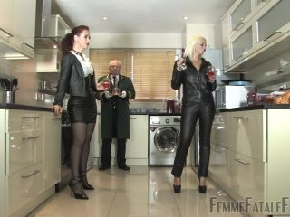 Femmefatalefilms - Mistress Heather, Mistress Lady Renee - Butler Maid Bi Complete!!!