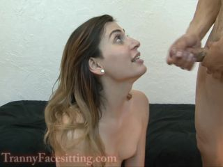 Tranny Babysitter Anal Fucking and Ass Worship with Slo MO Cumshots