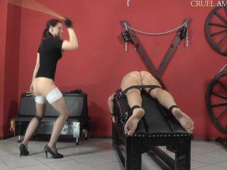 Cruel Amazons - Mistress Anette - Vulnerable Parts - spanking on fetish porn