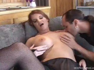 Horny Red Head Takes Big Cock For A Ride