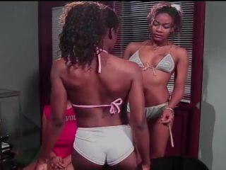 Sexy Ebony Lesbians Tease Their Pussy Softly