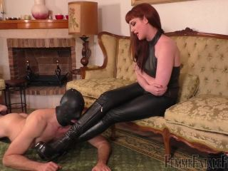 Femme Fatale Films – Boot Worship Day – Part 3 –  Miss Zoe  – Leather Trousers, Humiliation | miss zoe | fetish porn riley reid fetish