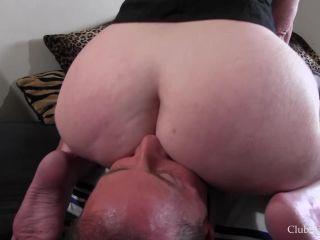 Club Stiletto FemDom  Tongue Fuck Nasty Granny's Ass  Starring Mistress Nasty Granny