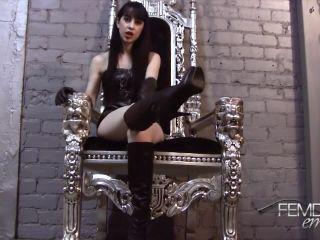 Femdom Empire – On Your Knees Boot Bitch POV – Boot Worship, Mina Thorne, lady fyre femdom on pov