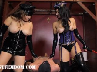 Thong – Fascist FemDom – Smothered Until You Talk: Full (Pt. 1&2) – Bossy Delilah, Elena De Luca and Goddess Tangent