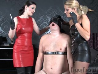 Femme Fatale Films – Lady Natalie Black, Lady Victoria Valente – Slap and Spittle – Complete Film