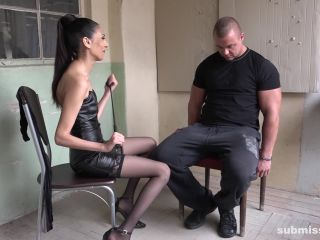 Brunette – Bound men wanked – BMW Ashley Ocean