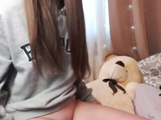Pantieless and beautiful 18 y\/o teenager shows everything.