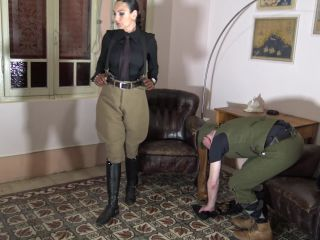 emma butt femdom Uniform – MADAME CATARINA – CRUELEST BEAUTY – Safari Caning- Stable Boy Boot Service: Chapter One, verbal humiliation on cumshot