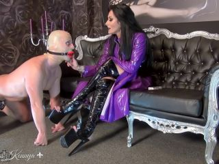 Mistress Kennya – Bright red lips for My ashtray  – Human Ashtray, Submissive Slave Training on gangbang all femdom