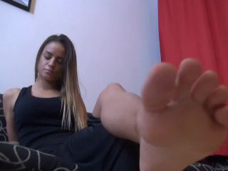 Foot humiliation – Lady Monika – Princess Of Sin – CRUEL Foot Domination (GO PRO Camera)