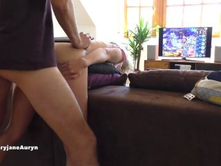 MaryjaneAuryn has standing doggy sex, including over the couch, and re ...