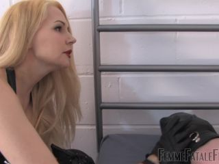 Leather Thigh Boots – Femme Fatale Films – Ball Caning – Complete Film – Mistress Eleise de Lacy