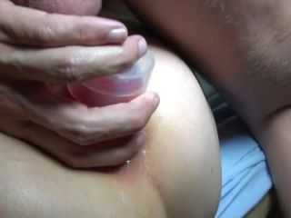Mature triple anal penetration, footing and fisting sex with husband