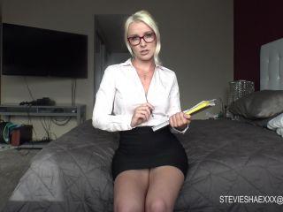 femdom - Stevie Shae – Naughty Teacher JOI 101 Sloppy Blowjob