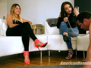 Female Domination – THE MEAN GIRLS – Party Shoes for Pig-Slave – Princess Skylar and Princess Carmela