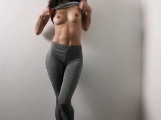 lizashultz in 010 Fitness Girl in Leggings Masturbating near the Wall