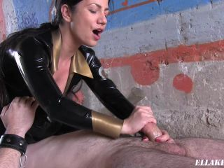 Rewarding My Slave with a Handjob!