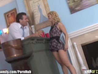 Mother and daughter blonde bimbo threes