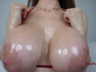 Miss Alexa Pearl - Tit Worship JOI Oil And Cummed On