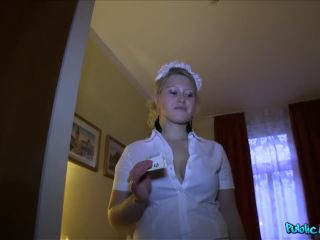 Hotel Maid Gets The Tip Of Stranger's Cock In Her Pussy