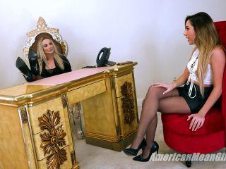 iranian foot fetish Female Domination – THE MEAN GIRLS – Office Shoeshine Slave – GODDESS PLATINUM and Princess Skylar, pantyhose on feet