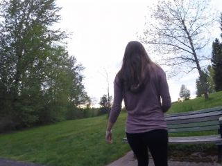 Crotchless yoga pants in public - spreading, flashing, masturbating