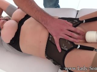 British mature  tied up and teased