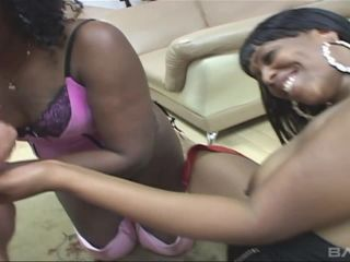 Two Black Chicks Share A White Dick In Interracial Ffm Threesome